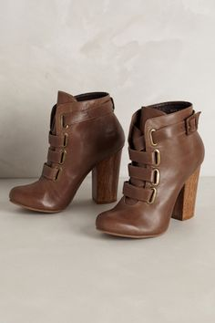 """- By Klub Nico - Fits true to size - Adjustable buckle - Leather upper, insole, sole - 4"""" wood heel - Brazil"""