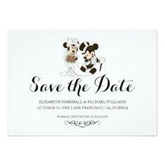 Mickey & Minnie Wedding Save the Date Cards | Getting Married Design for your Disney Wedding #disneywedding