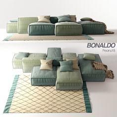 Sofa Bonaldo Peanut B Modular Furniture, Sofa Furniture, Living Room Furniture, Furniture Design, Modular Couch, Sofa Sofa, Chaise Longue Design, Sofa Design, Interior Design