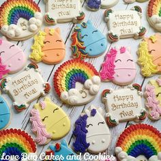 My Little Pony inspired ponies and unicorns! Cutters by @whiskedawaycutters #mylittlepony #birthday #rainbow #unicorn #rainbowunicorn #roygbiv #ponies #pinkiepie #rainbowdash #twilight #appledumpling #lovebugcookies #decoratedcookies #loudouncounty #leesburg #southriding #ashburn #gifts #cookieart #cute #cookies #pretty #cookieclasses #cookiedecoratingclass #loudouncountyactivity #lovebugstudio #lovebugcookies