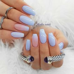 Ombre Coffin Nail Design is one of women's favorite nail art designs. The length and shape of coffin nails can complete bold design and color very well, of course, gradual change is also easy to achieve in the coffin nails. Best Acrylic Nails, Acrylic Nail Designs, Nail Art Designs, Nails Design, Cute Nails, Pretty Nails, My Nails, Ballerina Nails, Nagel Gel