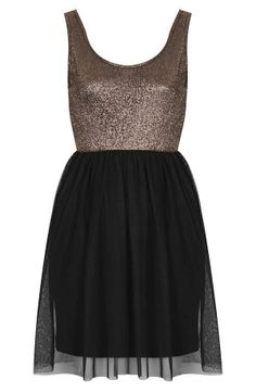 We love this metallic party dress!