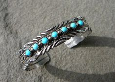 Native American Navajo Turquoise Silver Jewelry, Navajo Turquoise Silver Bracelet, Turquoise Bracelet, Navajo Silver, Snake Eye Turquoise
