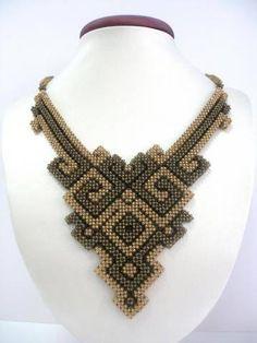 Otomatik alternatif metin yok. Seed Bead Necklace, Seed Bead Jewelry, Beaded Necklace, Beaded Bracelets, Necklaces, Bead Embroidery Jewelry, Beaded Jewelry Patterns, Beaded Embroidery, Geometric Necklace