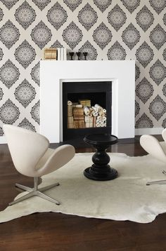 Perfectly paisley #wallpaper #paisley #charcoal