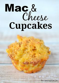 Mac and Cheese Cupcakes Recipe - handheld macaroni and cheese with crunchy topping, perfect party food appetizer or snack.