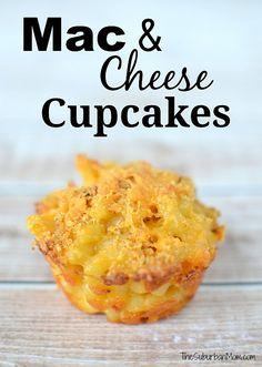 Mac and Cheese Cupcakes - handheld macaroni and cheese!