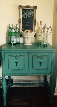 SOLD  Vintage Small Server/accent table by ColorfulHomeDesigns