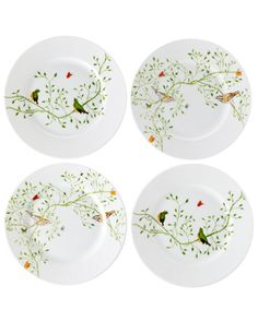"Raynaud ""Wing Song"" Set of 4 7.7in Cake Plates"