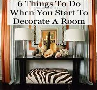 6 things to do when you start to decorate a room Need More Kitchen Decorating Ideas? Go to Centophobe.com