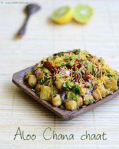 #vegan aloo chana chaat recipe by Raks anand, via Flickr