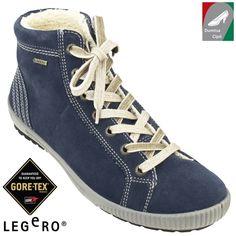 Legero vízálló női bőr cipő 00619-84 kék Gore Tex, Marketing, Boruto, Legs, Bridge