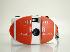 Rare Novelty Bank Of America Logo Football Toy 35mm Film Camera Promo Lomo  - SOLD - Other items up for sale here! http://www.ebay.com/sch/pealfaro/m.html?_nkw=&_armrs=1&_from=&_ipg=&_trksid=p3686