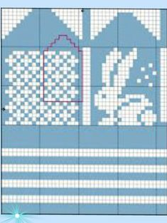 Bilderesultat for strikkemønster kanin Knitting Charts, Baby Knitting Patterns, Knitting Stitches, Knitting Socks, Knitted Mittens Pattern, Crochet Mittens, Knitted Gloves, Knitting For Charity, Fair Isle Knitting
