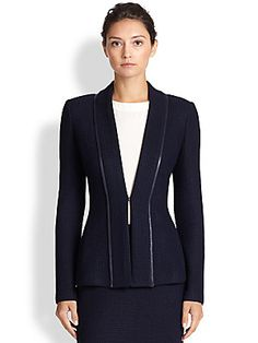 St. John Textured Knit Jacket