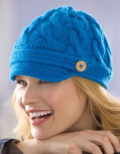 Cable Newsboy Cap Knitting Pattern | FaveCrafts.com