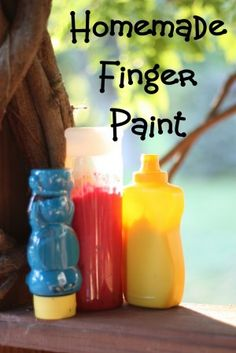 Home made finger paint - use food coloring