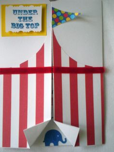 Carnival/Circus Birthday Invitation by stampandseal on Etsy, $4.50