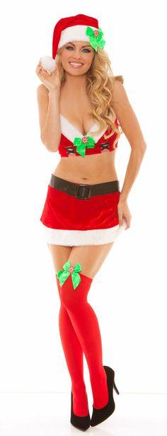 A fairly sexy, more modern Miss Santa costume...perfect http://www.costumeshopper.com/prods/em9812-xmas.html