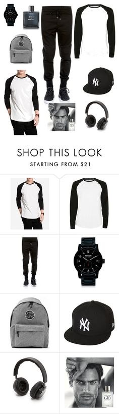 """Typical hig school guy lol"" by frishtaaa ❤ liked on Polyvore featuring NLY MAN, Topman, Dolce&Gabbana, Nixon, Art Disco, New Era, B&O Play, Giorgio Armani, Chanel and men's fashion"