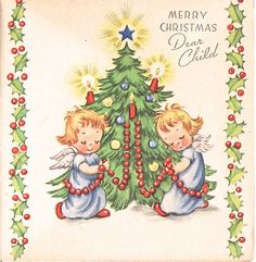 angels Christmas Card Images, Vintage Christmas Cards, Christmas Greeting Cards, Christmas Pictures, Christmas Angels, Christmas Greetings, Vintage Cards, All Things Christmas, Winter Things