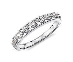 Heirloom Diamond Ring in 14k White Gold  Love, love, love this!