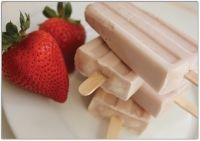 Strawberry Lime Yogurt Popsicles (Using Young Living Lime essential oil of course!)  See more recipes at frontiernaturescents.com