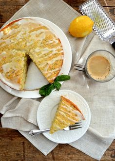 Lemon Basil Yogurt Cake by The Woks of Life