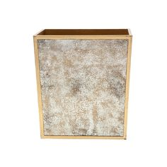 Discover the Pigeon & Poodle Atwater Rectangular Waste Basket - Antiqued Gold at Amara