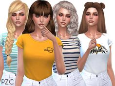 Cute t shirts collection 02 by pinkzombiecupcakes at tsr image 2311 sims 4 The Sims 4 Pc, Sims Four, Sims 4 Mm, Sims 4 Cc Kids Clothing, Sims 4 Children, Sims4 Clothes, Sims 4 Gameplay, Sims 4 Cc Packs, Sims 4 Cc Makeup