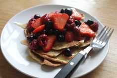 "I supposed I should really be calling these ""Slimming World friendly pancakes"", as this is the recipe that's being passed around the Slimming World forums and Instagram community — but they are flourless, too, so it's a perfectly decent description.  So, this. Not my recipe. There are some very clever Slimming World people who figure …"