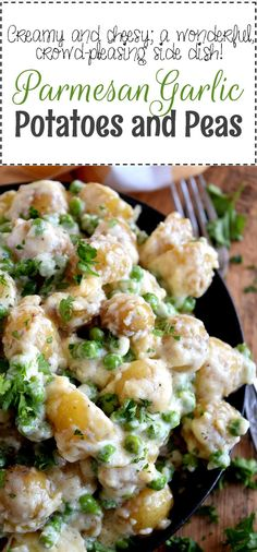 Creamy, garlicky, cheesy, and completely satisfying! Parmesan Garlic Potatoes and Peas is the perfect side dish to almost any main. Pair this simple, rustic dish with chicken, pork, or beef for a great weeknight dinner option. This dish has it…