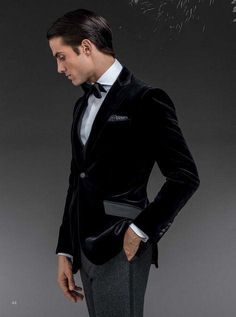 Details about 2016 Fashion Mens Velvet Wedding Suits Groom Tuxedos