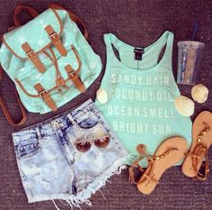 Daily New Fashion : Turquoise And Denim