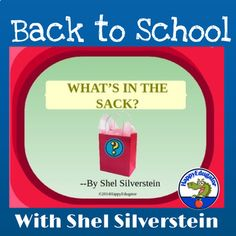 """Great for Back to School. Beginning of the Year. """"What's in the Sack"""" by Shel Silverstein PowerPoint. Goes well with my All About Me Bag Activity. Animated graphics will make this poem fun to read and engage your students. Includes stop and think question slides. At the end there is a slide of ques... All About Me Activities, Back To School Activities, Activities For Kids, Love Teacher, Teacher Pay Teachers, Instructional Planning, Teaching Resources, Classroom Resources, Teaching Ideas"""
