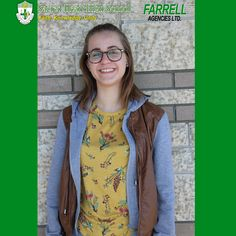 We are proud to sponsor the Sacred Heart Saint of the Month, Congratulations Emma! 🙌🎉  The Farrell Agencies Female Saint of the Month is a Grade 12 student who is determined and hardworking. She is a student who works to spread knowledge of Christian values, as she inspires others to be better people. She helps other students with their homework, and she also participates in educational discussions. She has been an honor roll with distinction student for the past 4 years. She attends St…