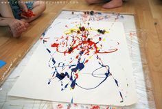 Kids Craft: Painting with Marbles