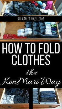 How to Fold Clothes the KonMari Way Double your drawer space and get organized! Fold clothes the KonMari way--come see the awesome before and after pictures! Diy Organizer, Diy Organization, Clothing Organization, Organizing, Household Organization, Clothing Racks, Clothing Ideas, Tips And Tricks, Clothes Folding Board