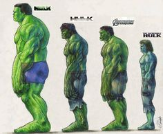 Hulk's size from different movies.