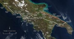 A Map showing the Appian Way and the shorter Via Appia Traiana