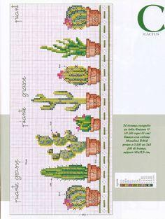 EMBROIDERY – CROSS-STITCH / BORDERIE / BORDUURWERK – CACTUS - kaktusy
