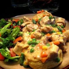 Chicken Pot Pie Stew- Slow Cooker! serve over warm biscuits on a cold night