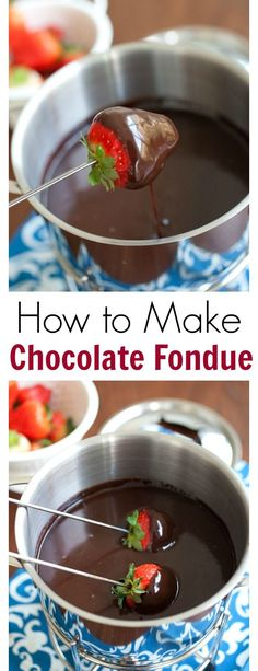 How to make chocolate fondue - easy step-by-step to make the richest and loaded . - How to make chocolate fondue – easy step-by-step to make the richest and loaded chocolate fondue - Easy Chocolate Fondue Recipe, Dark Chocolate Recipes, Dairy Free Chocolate, How To Make Chocolate, Chocolate Chocolate, Chocolate Souffle, Dessert Party, Bon Dessert, Appetizer Dessert