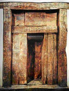 false door of Ika 2780-2280 B.C. Saqqara, Egypt