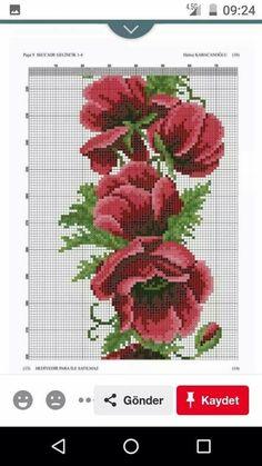 Cross Stitch, Towels, Seed Stitch, Flowers, Punto De Cruz, Cross Stitches, Crossstitch, Punto Croce