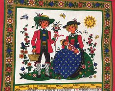 Reminisce about the year that was with this folk art themed wall hanging. Wine Tasting Experience, Pennsylvania Dutch, Amish Country, Strudel, Tea Towels, Gift Baskets, Folk Art, Sewing Projects, Kids Rugs