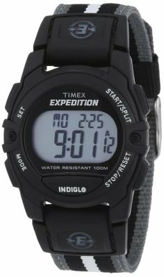 Timex Women's T49661 Expedition Classic Digital Chronograph Watch Timex. $29.99. Strong acrylic crystal protects dial from scratches and scrapes. Water-resistant to 330 feet (100 M). Case diameter measures 33 mm. Quartz movement. Rubber case; digital-gray dial; day-date-and-month functions; chronograph functions