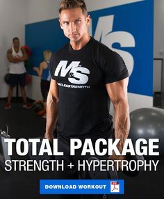 Can't seem to train for hypertrophy without sacrificing strength or vice versa? Check out this full body workout split that helps you train for both! Best Full Body Workout, Full Body Workout Routine, Workout Regimen, Fitness Motivation, Workout Fitness, Musclepharm Workouts, Hypertrophy Training, Workout Splits, Workout Plan For Men