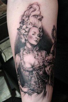 Victorian pin up tattoo