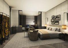Beijing Waldorf-Astoria Kleurgebruik van grijs en cremekleuren